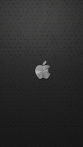 Minimalistic wallpaper with Apple Logo on leather gray background