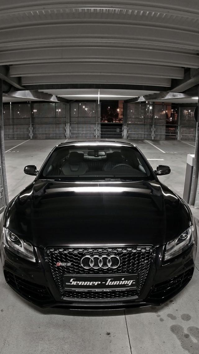 Audi black iPhone 5 wallpaper 640x1136
