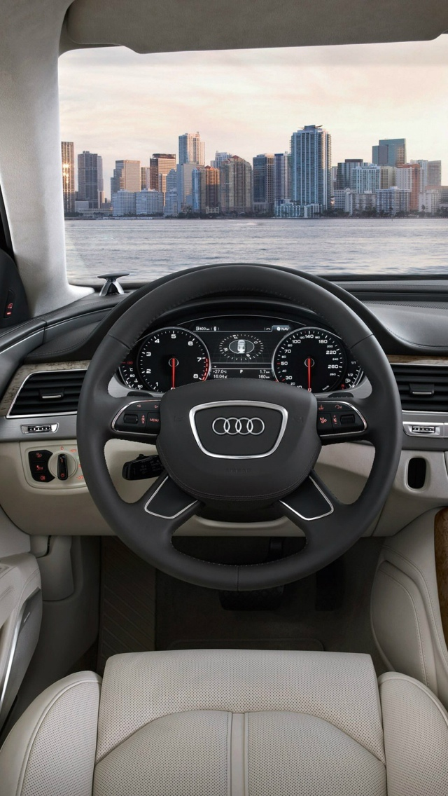 Interior of audi car iPhone 5 wallpaper 640x1136