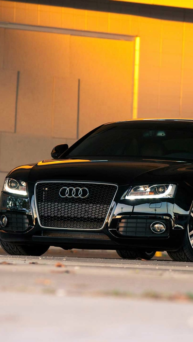 Black audi a4 iPhone 5 wallpaper 640x1136