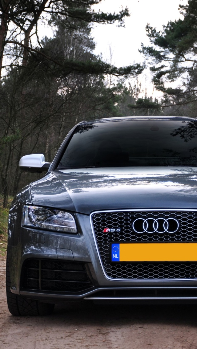 Audi front iPhone 5 wallpaper 640x1136