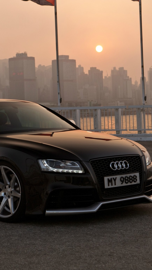 Black Audi Car iPhone Wallpaper 640x1136
