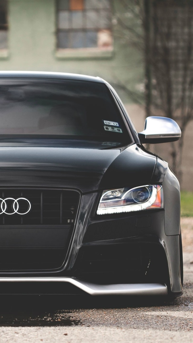 Back To Gallery Prev Next Black Audi S5 IPhone 5 Wallpaper 640x1136