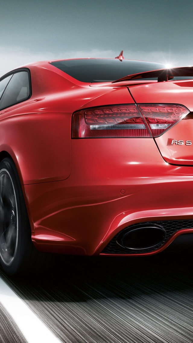 Audi S5 red iPhone 5 wallpaper 640x1136