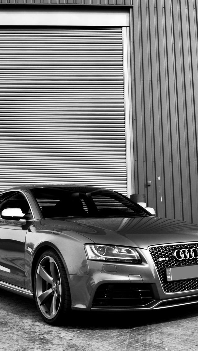 Silver Audi S5 iPhone 5 wallpaper 640x1136