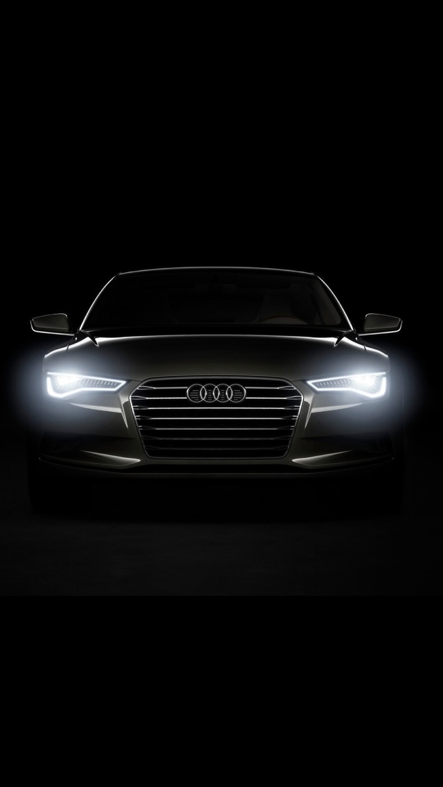 Audi Front Car iPhone 5 wallpaper 640x1136