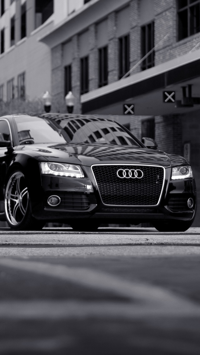 audi car front a4 iPhone 5 wallpaper 640x1136