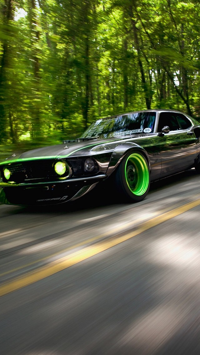 Ford Mustang RTR-x Background for iPhone 5 640x1136