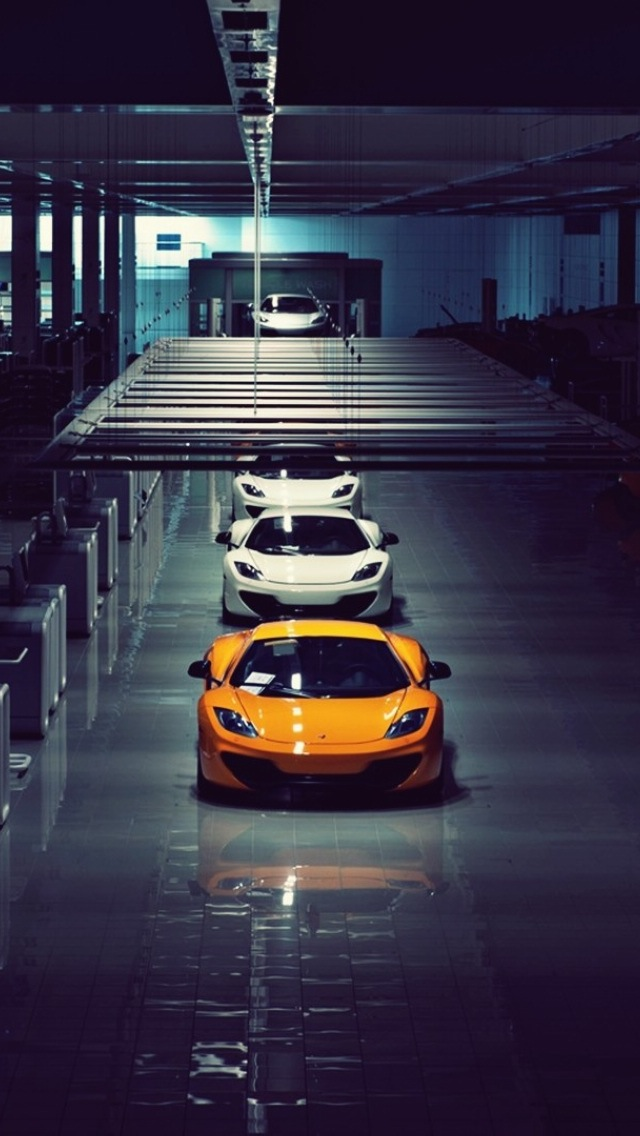 McLaren Car Auto Factory iPhone Wallpaper 640x1136