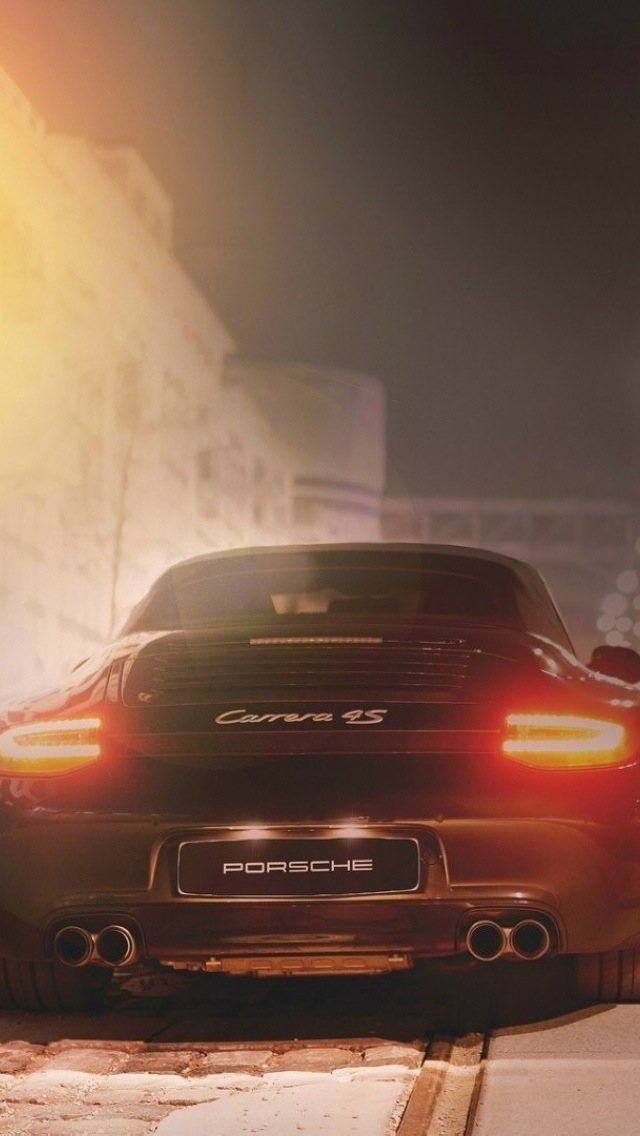 Porsche Carrera 4S, Wallpaper for iPhone 5 640x1136