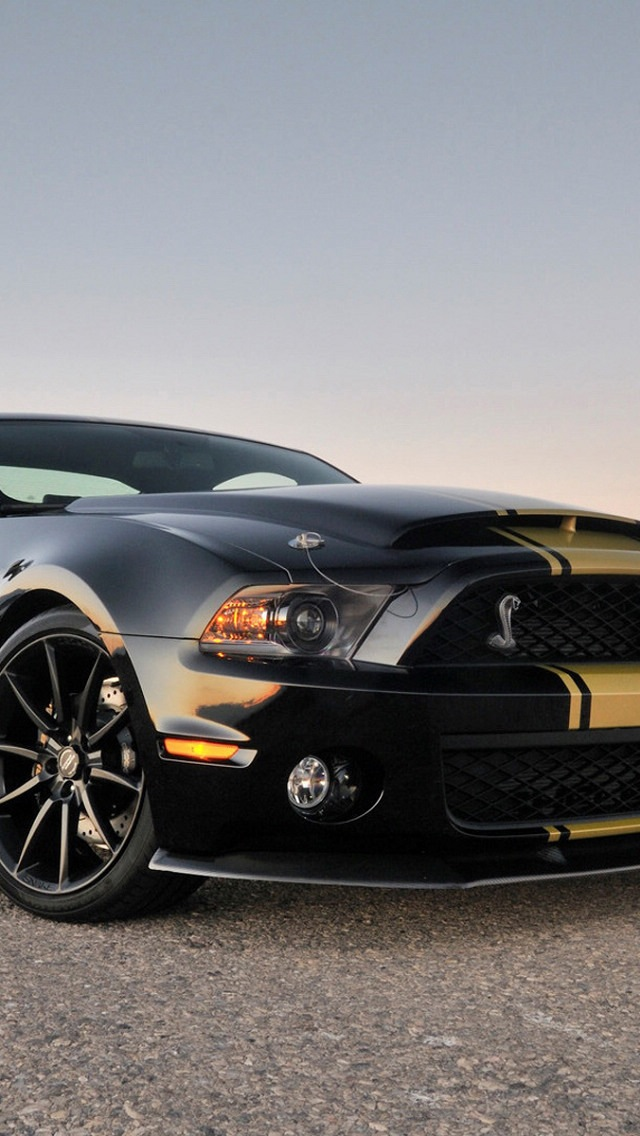 Shelby GT500, Super Snake, iphone 5 wallpaper 640x1136