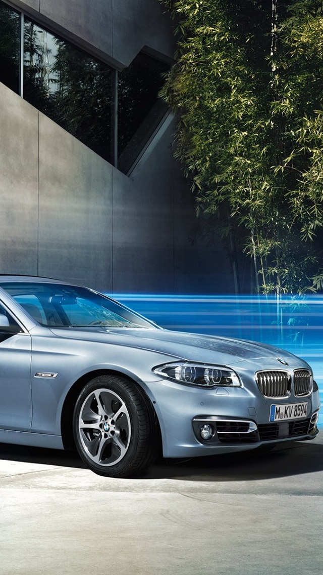 2014 BMW ActiveHybrid 5 Wallpaper for iPhone 5 640x1136
