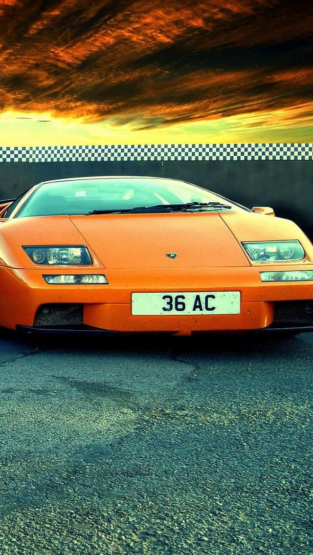 Lamborghini, Diable, iPhone 5 HD 640x1136