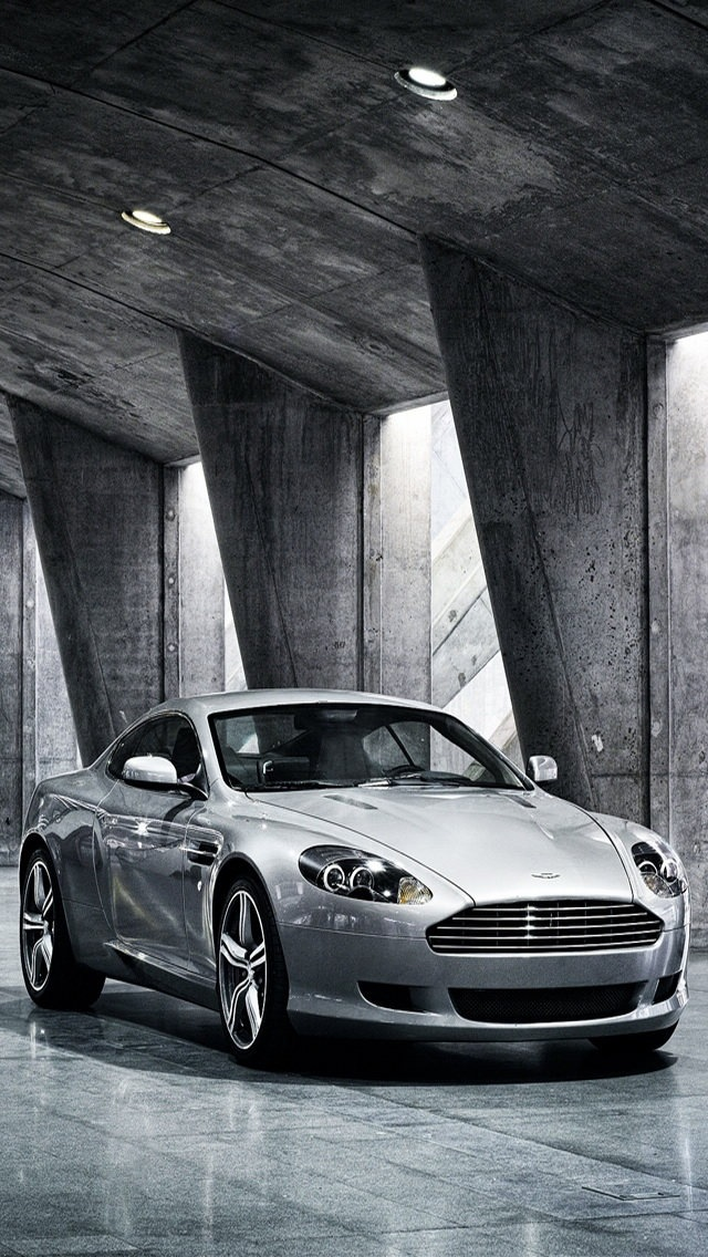 Aston Martin Vanquish Gray Background