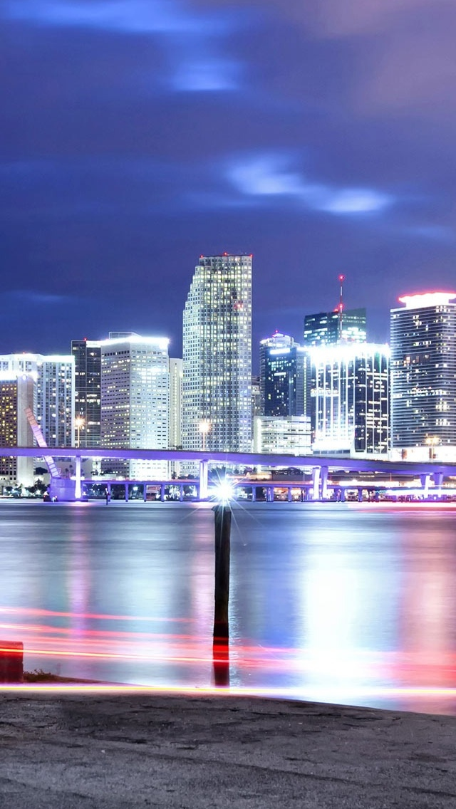 City views iPhone 5 wallpaper 640*1136