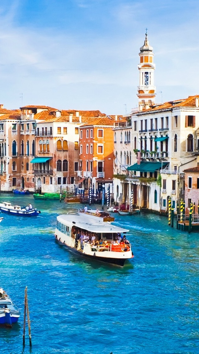 Venice City view iPhone 5 wallpaper 640*1136
