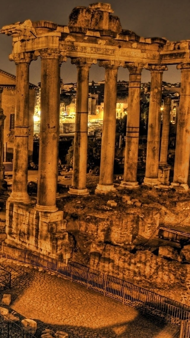 Athens City view iPhone 5 wallpaper 640*1136