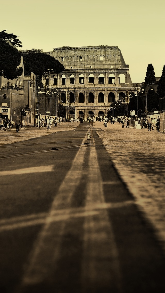 Rome Italy City view iPhone 5 wallpaper 640*1136