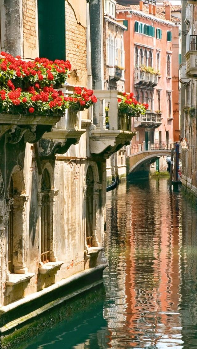 Venice City views iPhone 5 wallpaper 640*1136