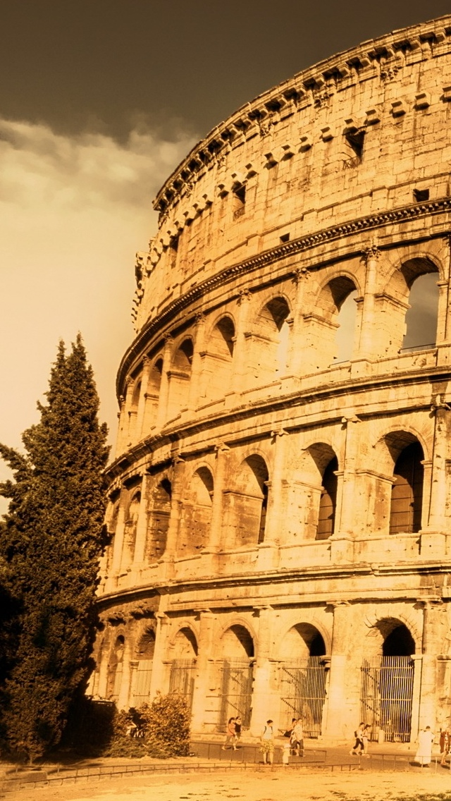 Rome City view iPhone 5 wallpaper 640*1136