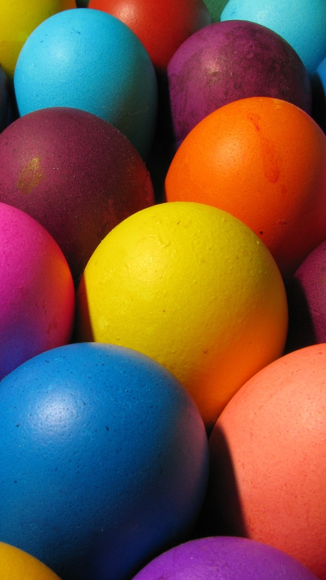 Colorful Easter Eggs iPhone 5 wallpaper 640*1136