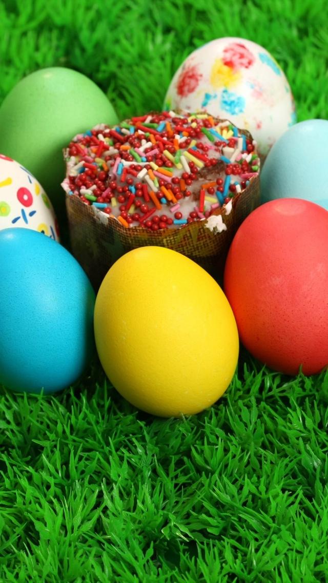 Easter Eggs iPhone 5 wallpaper 640*1136