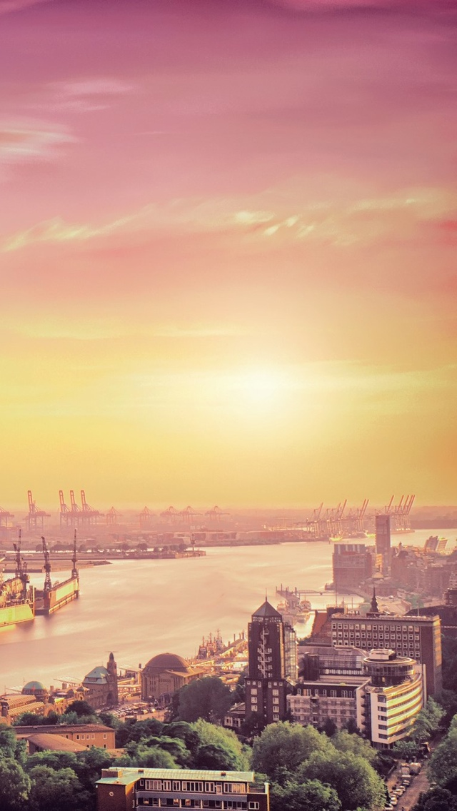 London Sunrise iPhone 5 wallpaper 640*1136