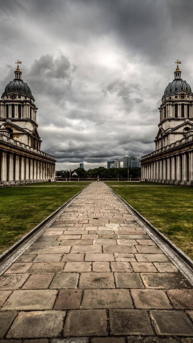 London HDR path iPhone 5 wallpaper 640*1136
