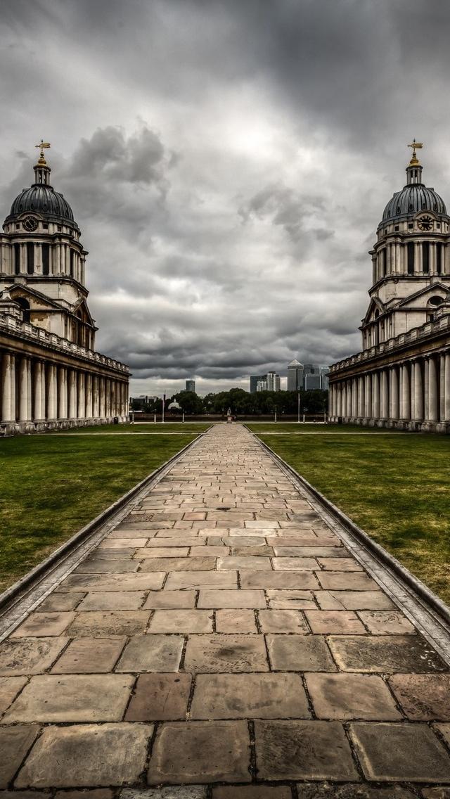 London HDR path iPhone 5 wallpaper 640*1136