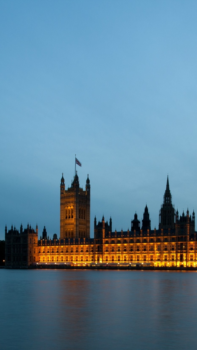 London Parliament iPhone 5 wallpaper 640*1136