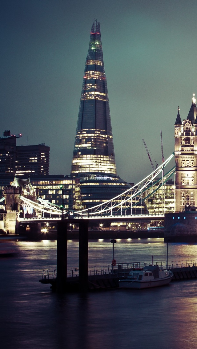 London gray view iPhone 5 wallpaper 640*1136