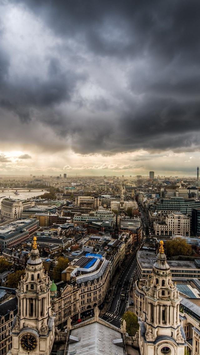 London panorama HDR iPhone 5 wallpaper 640*1136