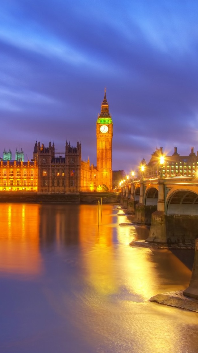 Lights London iPhone 5 wallpaper 640*1136