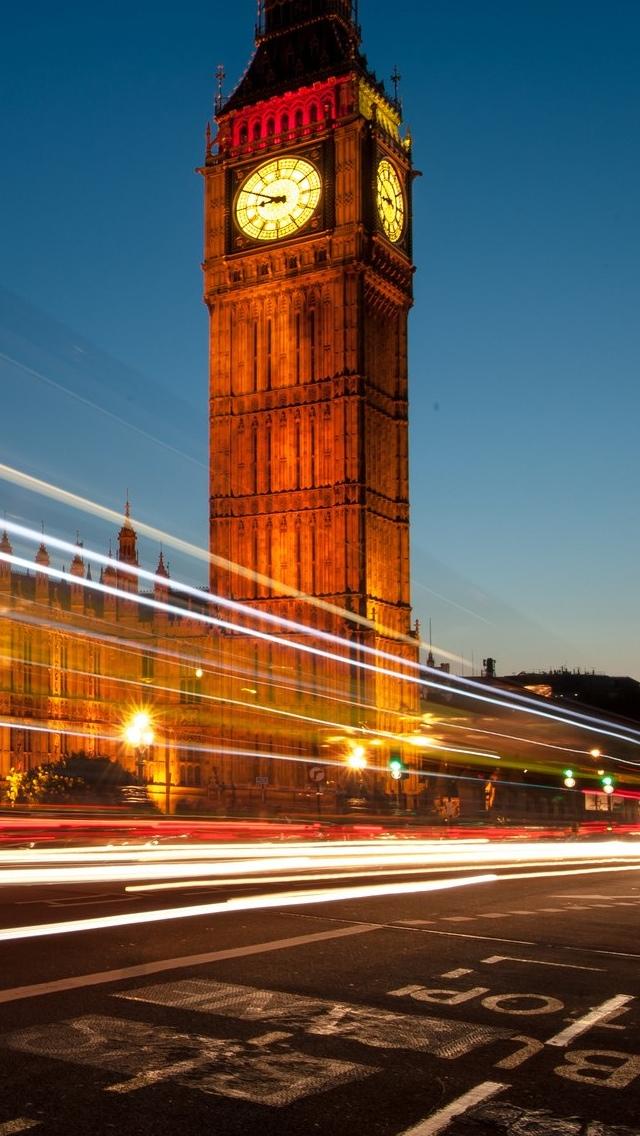 Big Ben closeup London iPhone 5 wallpaper 640*1136