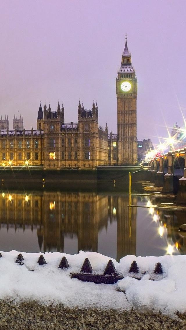 London winter iPhone 5 wallpaper 640*1136