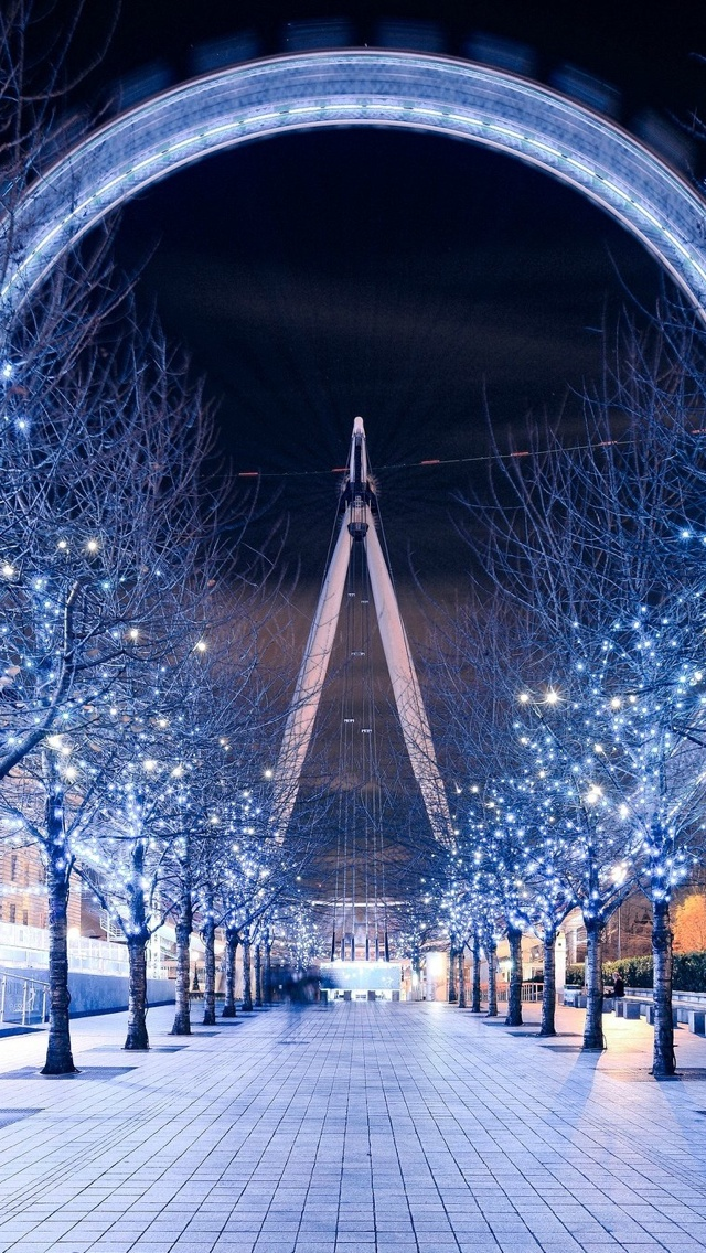 Winter in London iPhone 5 wallpaper 640*1136