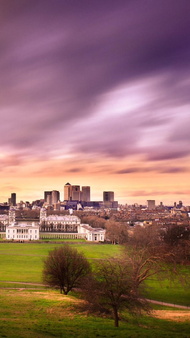 London Sky Purple iPhone 5 wallpaper 640*1136