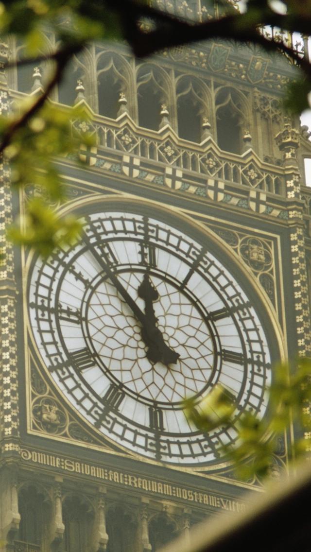 Big Ben Clock London iPhone 5 wallpaper 640*1136