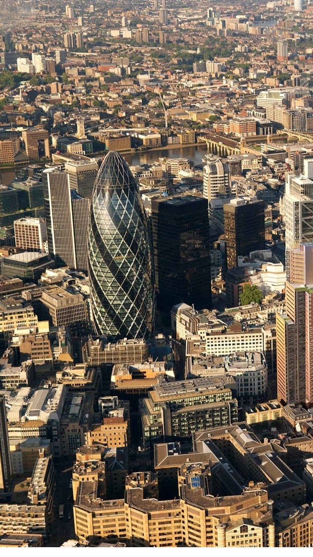 Bird eye view of London wallpaper for iphone 640*1136