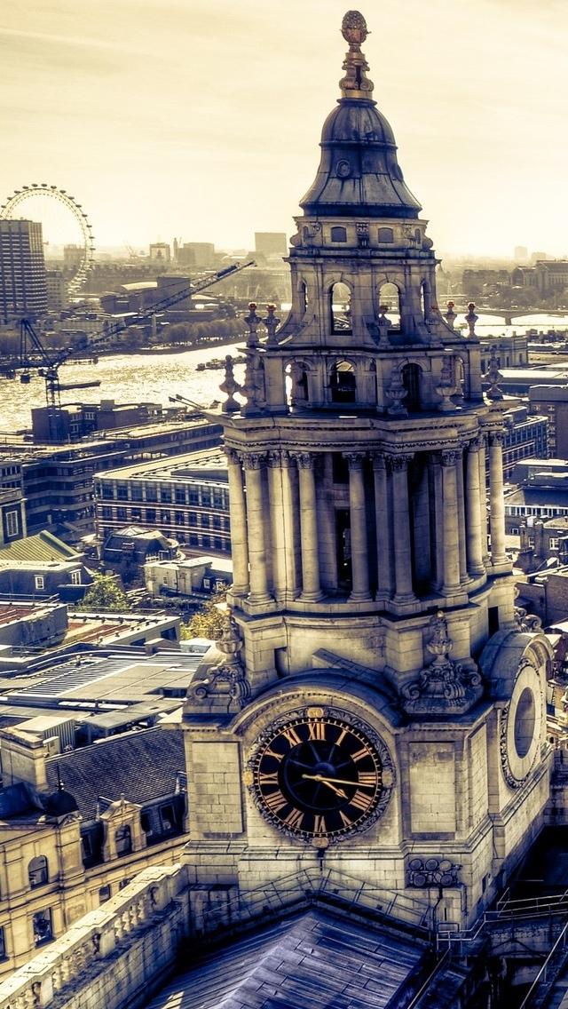Panorama London iPhone 5 wallpaper 640*1136