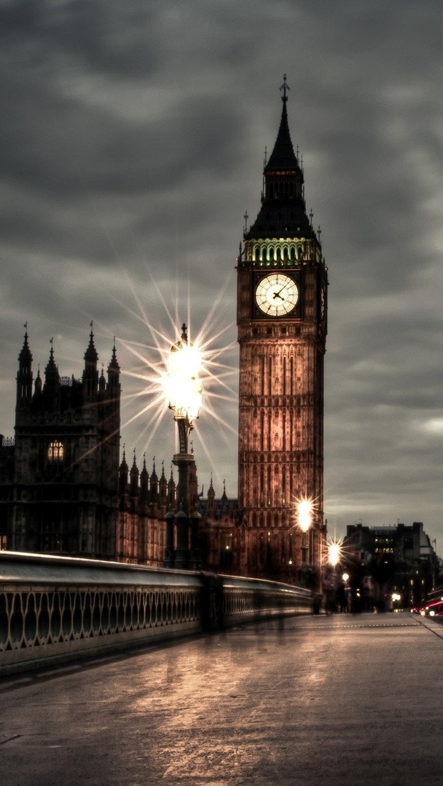 Tower Night London View iPhone 5 wallpaper 640*1136