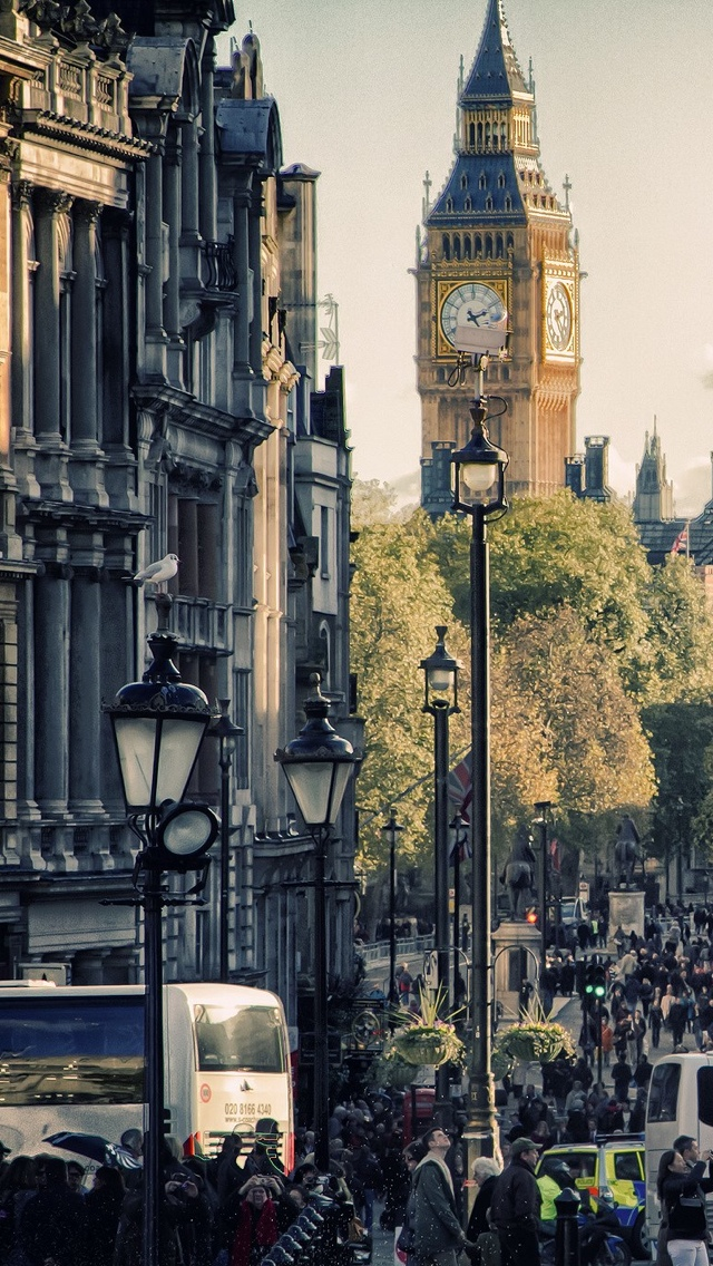 London Street View  iPhone 5 wallpaper 640*1136