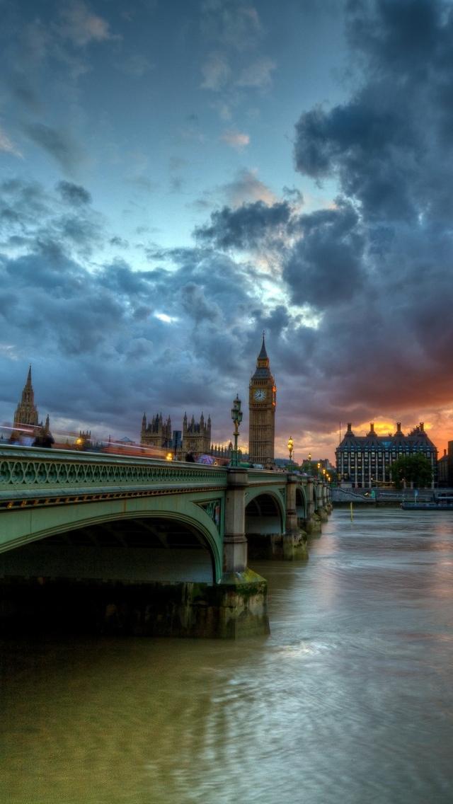 Thames London View iPhone 5 wallpaper 640*1136