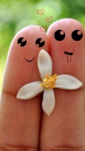 Wallpapers-For-iPhone-5-Love-Faces-Drawn-on-fingers-thumb-120×214
