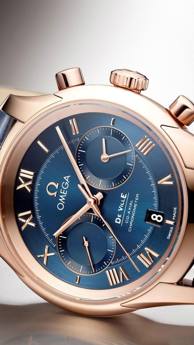 Omega De Ville Gold Luxury Watch 640x1136