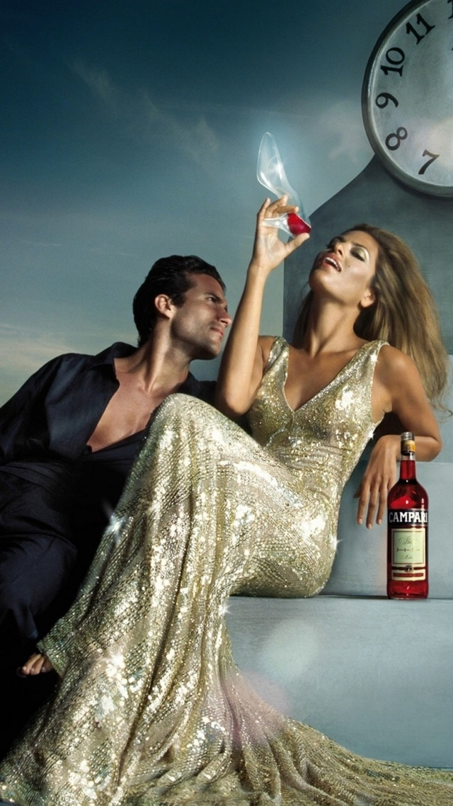 Luxury Campari Ad with Eva Mendez 640x1136