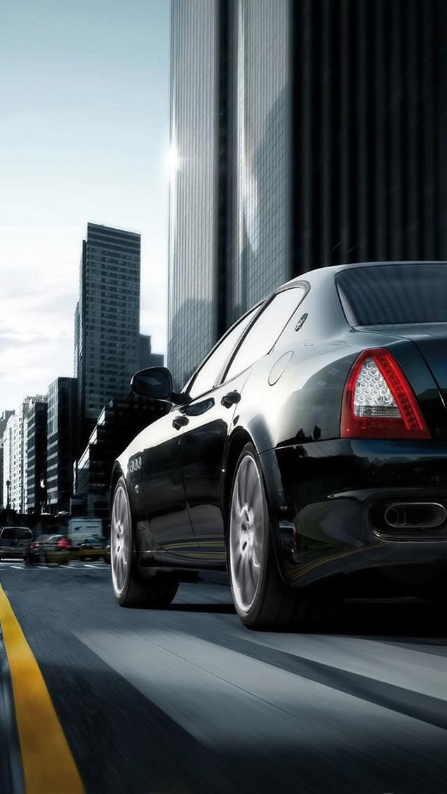Maserati Quattroporte, Luxury Car 640x1136