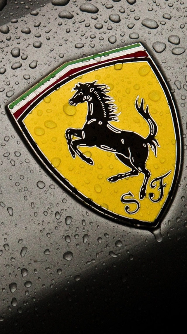 Ferrari Logo Luxury Wallpaper 640x1136