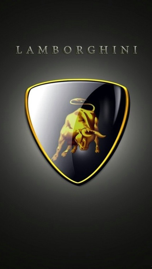 Background with luxury Lamborghini logo 640x1136
