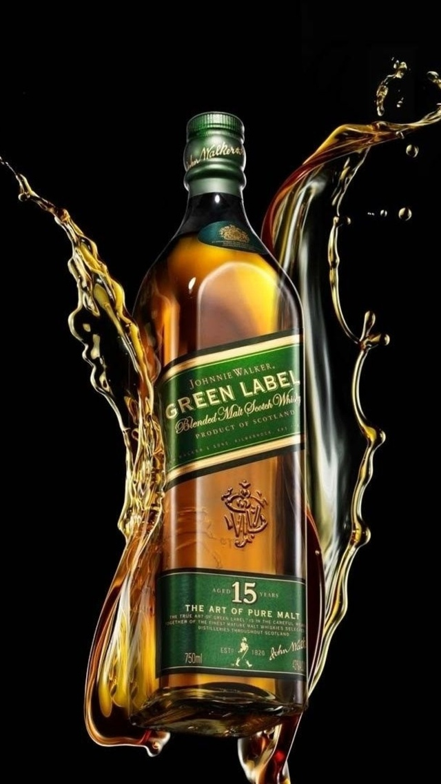 Luxury, Whiskey Brand, Johnnie Walker, Green Label 640x1136